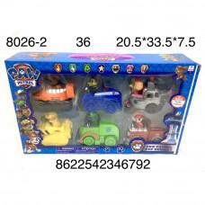 8026-2 Собачки 6 героев на машинках, 36 шт. в кор.