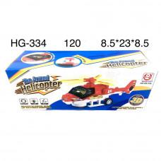 HG-334 Вертолет на батарейках свет звук, 120 шт в кор.