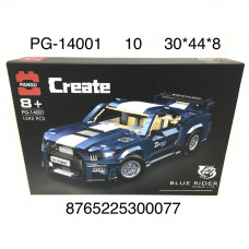 PG-14001 Конструктор Автомобиль 1392 дет. 10 шт в кор.