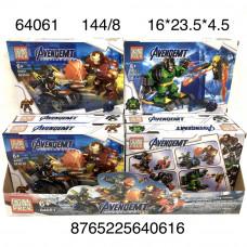 64061 Конструктор Супергерои 8 шт. в блоке, 144 шт. в кор.