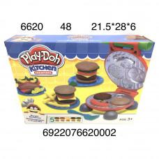 6620 Масса для лепки Гамбургеры, 48 шт. в кор.