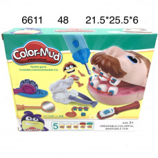 "6611 Набор для лепки ""Стоматолог"", 48 шт. в кор."