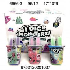 6666-3 Игрушка Idig Monsters 12 шт. в блоке, 96 шт. в кор.