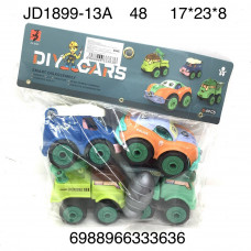 JD1899-13A Машинки конструктор 4 шт. в пакете, 48 шт. в кор.