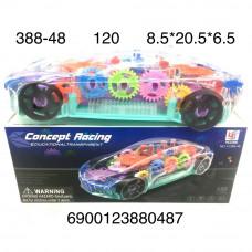 388-48 Машинка с шестеренками на батарейках свет звук 120 шт в кор.