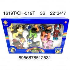 1619T/CH-519T Собачки Единороги 7 героев набор, 36 шт. в кор.
