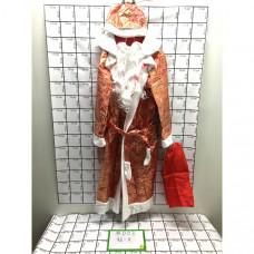 Новогодний костюм Дед мороз 4 шт в блоке, 96 шт в кор. #003