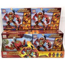 Конструктор Супергерои 8 шт. в блоке, 192 шт. в кор. 64007