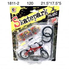 1811-2 Велосипед и скейтборд для пальцев 120 шт в кор.