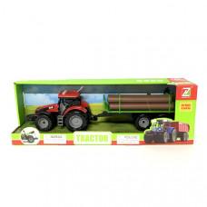 Трактор с прицепом (свет, звук), 36 шт. в кор. 550-52J