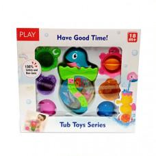 Набор игрушек для купания малышам 18+, 72 шт. в кор. 5511