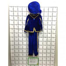 Костюм детский синий 6 шт в блоке, 96 шт в кор. #016