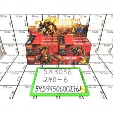 Конструктор Ниндзя 6 шт в блоке, 240 шт в кор. SX3038