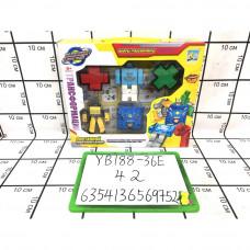 Цифры-Трансформеры набор, 42 шт. в кор. YB188-36E
