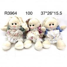 R3964 Мягкая игрушка Зайка 100 шт в кор.