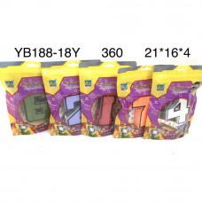 YB188-18Y Цифры-Трансформеры, 360 шт. в кор.