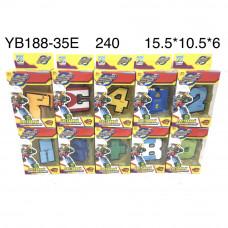 YB188-35E Цифры-Трансформеры 15 шт. в блоке,15 блоке. в кор.