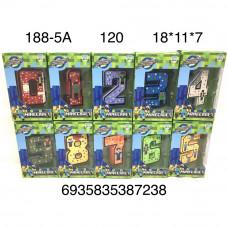 188-5A Цифры трансформеры Герои из кубиков 120 шт в кор.