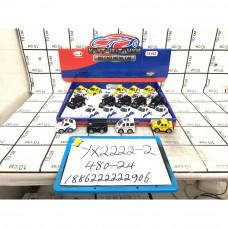 Машинки металл 24 шт в блоке, 480 шт в кор. YX2222-2