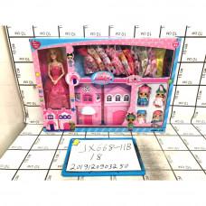 Кукла с домиком и гардеробом, 18 шт. в кор. JX668-11B