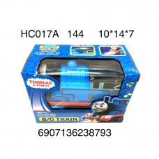 HC017A Паровозик на батарейках свет звук 144 шт в кор.