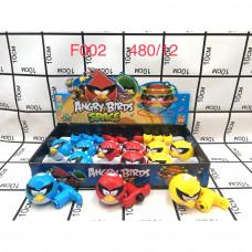 F002 Заводная игрушка Птички (свет, звук), 12ш в блоке 480 шт. в кор.