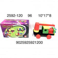 2592-120 Деревянная игрушка Машинка, 96 шт. в кор.