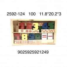 2592-124 Деревянная игрушка Цифры, 100 шт. в кор.