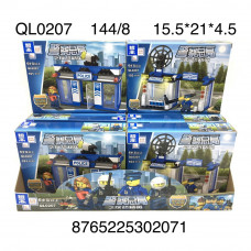 QL0207  Конструктор Полиция 8 шт. в блоке, 18 блоке. в кор.