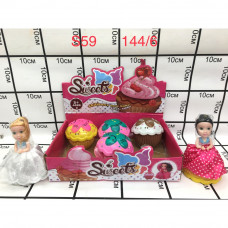 S59 Кукла в кексе 6 шт в блоке, 144 шт в кор.