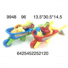9948 Песочный набор Тачка 96 шт в кор.