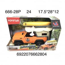 666-28P Машина кэмпинг (свет, звук), 24 шт. в кор.