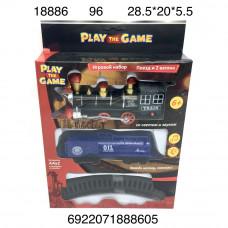 18886 Игровой набор Поезд и 2 вагона, 96 шт. в кор.