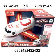 660-A243 Самолет пожарная (Свет, звук) 18 шт в кор.