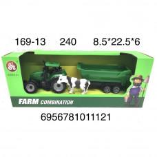 169-13 Трактор с прицепом и коровой, 240 шт. в кор.