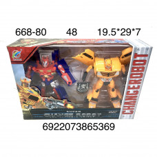 668-80 Робот трансформер 2 шт в наборе, 48 шт в кор.