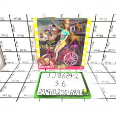 Кукла с собачкой и велосипедом 36 шт в кор. JJ8689-2