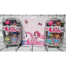 Кукла в шаре, чемоданчики большие, 12шт в блоке