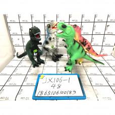 Динозавры (звук) в ассортименте, 48 шт. в кор. JX106-1
