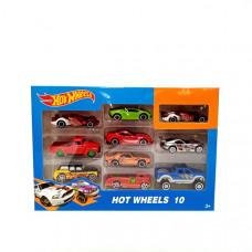 Машинки Хот Вилс 10 шт, арт. 1604-1-2-3