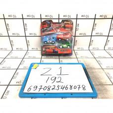 Машинки тачки 3 шт в наборе, 192 шт в кор. Z1