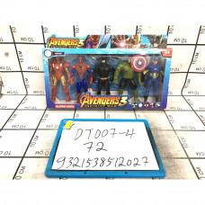 Супергерои 5 шт. в наборе, 72 шт. в кор. DT007-4