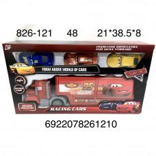 826-121 Автовоз с машинками Тачки набор, 48 шт. в кор.