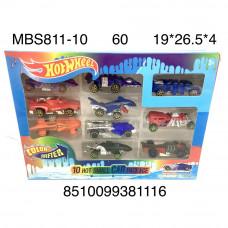 MBS811-10 Модельки Хот Вилс 10 шт. в наборе (меняет цвет), 60 шт. в кор.