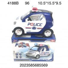 4188B Машинка Полиция на батарейках свет звук 96 шт в кор.