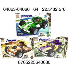 Конструктор Супергерои 3 шт. в блоке, 64 шт. в кор. 64063-64066