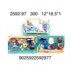 2592-97 Деревянная игрушка пазл-вкладыши Рыбалка, 300 шт. в кор.