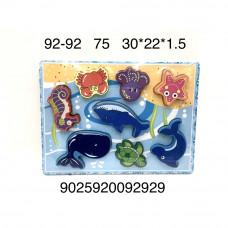 92-92 Деревянная игрушка пазл-вкладыш Морские животные, 75 шт. в кор.