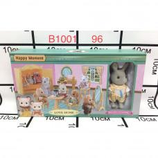 B1001 Счастливая семья с мебелью 96 шт в кор.
