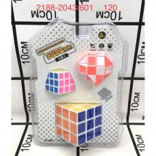2188-2043/601 Кубик-Рубик 3 шт. в наборе, 120 шт. в кор.